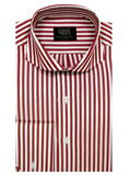 Mens Clothing - Crimson With White Stripe With Cutaway Collar